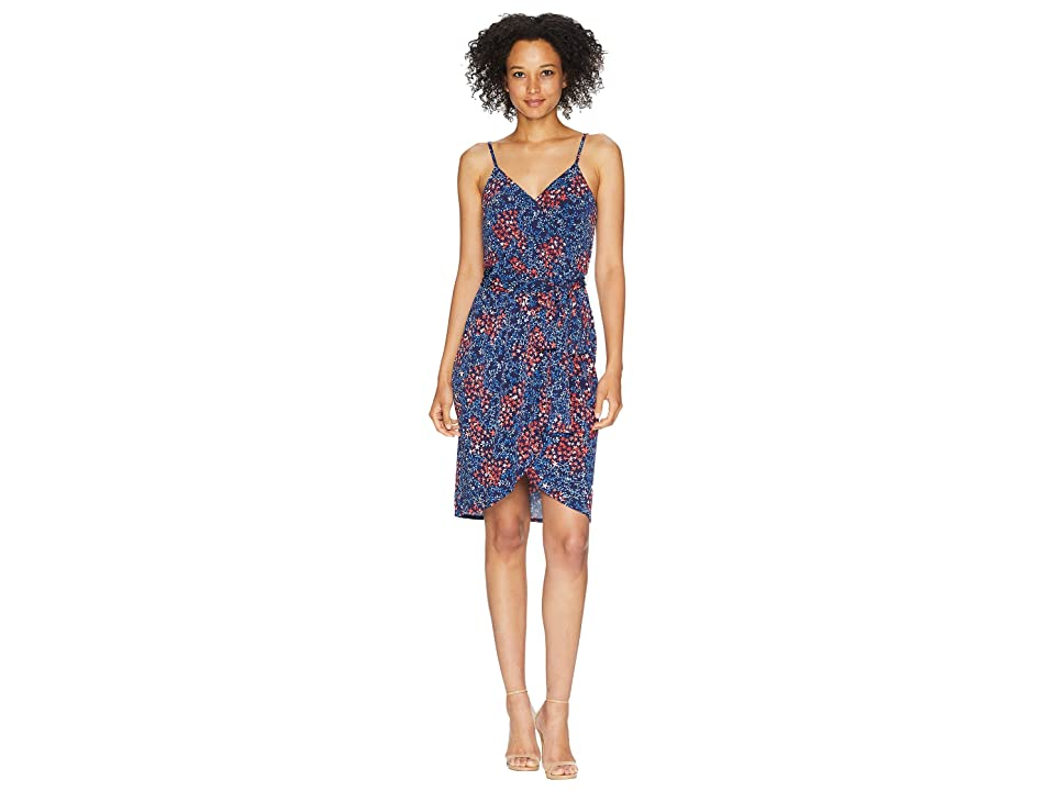 CeCe Corinne Sleeveless Ditsy Scape Wrap Dress (Mosaic Tile) Women