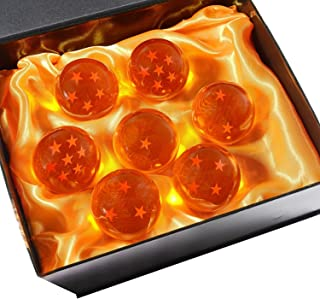 DeliaWinterfel Dragon Ball Z 7 Cristales en Caja Regalo All Stars , 5,7 cm , Junto de 7 pz , Anime by