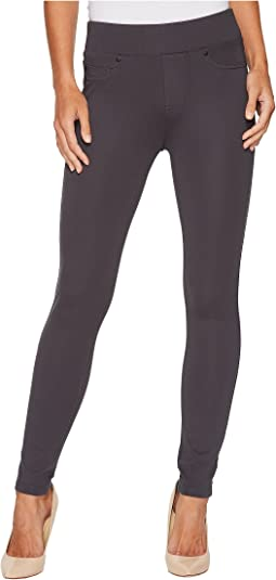 Liverpool Farrah Pull-On High Waist Ankle Leggings in Silky Soft Ponte Knit in Grey Armor