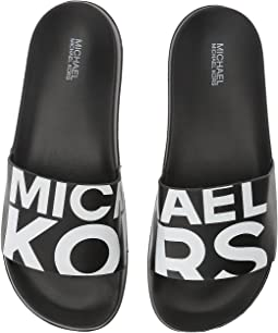 Black/Optic White Nappa/Michael Kors Graphic Logo Print