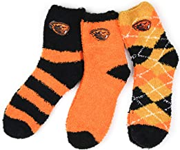 NCAA Oregon State Beavers 3 Piece Fuzzy Sock Bundle, Multicolor, One Size Fits Most