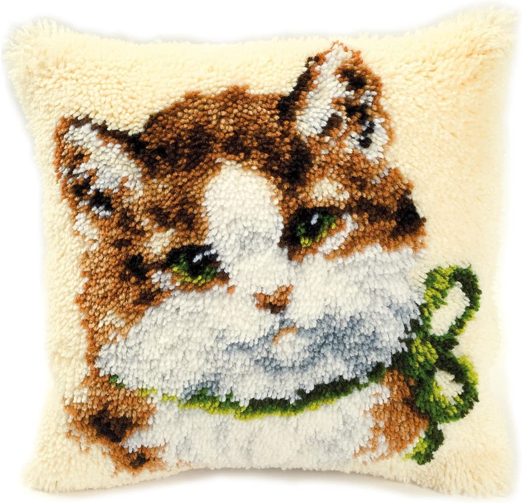 San Diego Mall Latch Hook Cushion kit Cat Some reservation