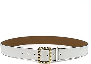 Michael Kors Women's Gold Braided Buckle - White