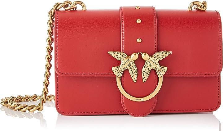 Borsa pinko love mini icon simply c vitell donna, taglia unica -idea regalo san valentino 1P21TF_Y6JC