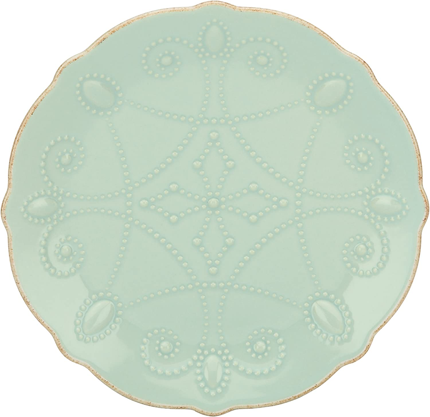 Lenox French Perle Assorted Plates, 7.5-Inch, Ice bluee, Set of 4