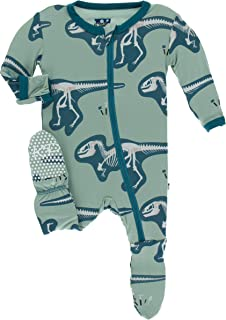 KicKee Pants Print Footie with Zipper | Paleontology Collection |