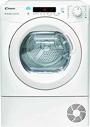 Sèche linge Pompe à chaleur Candy CS H8A2DE-S Capacité 8 Kg - hublot XXL - label Woolmark