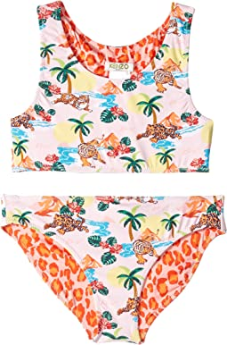 Reversible Two-Piece Printed Swimsuit (Big Kids)