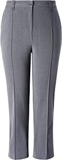 Chicwe Women's Stretch Plus Size Straight Leg Pants with Double Tabs Waistband 16-26