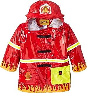 Kidorable Fireman Kids Rain Jacket, All Weather Raincoat Red