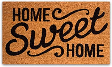 Pure Coco Coir Doormat with Heavy-Duty PVC Backing - Home Sweet Home - Size: 17-Inches x 30-Inches - Pile Height: 0.6-Inch...
