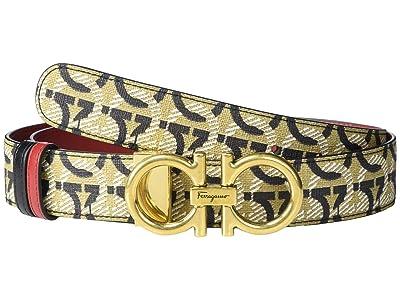 Salvatore Ferragamo All Gancini 2.5 Adjustable Belt (All Gancini Print) Women