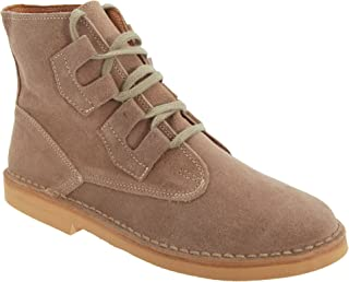 Mens Ghillie Tie Real Suede Desert Boots