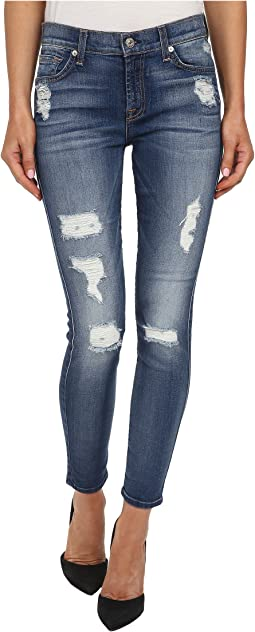 The Ankle Skinny w/ Destroy in Distressed Authentic Light 2