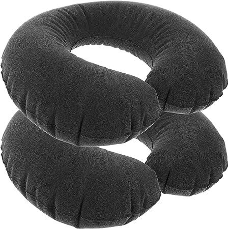 com-four® 2X Coussin Cervical Gonflable - Coussin Cervical Confortable - Coussin de Voyage de Poche - Coussin Voyage