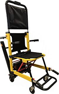 LINE2design Battery Powered Track Stair Chair 70019-Y-BAT Heavy Duty Emergency Lightweight Portable Folding Evacuation Stair Chair - Load Capacity: 400 lb. Yellow