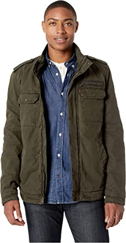 Cotton Military with Sherpa Lining
