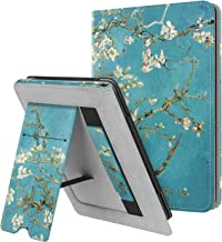 Fintie Stand Case for Kindle Paperwhite (Fits All-New 10th Generation 2018 / All Paperwhite Generations) - Premium PU Leather Protective Sleeve Cover with Card Slot and Hand Strap, Blossom