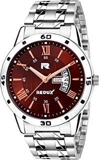 Redux Brown Dial Day and Date Functioning Men's Watch RWS0233S