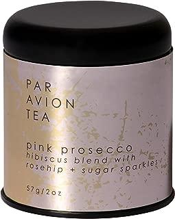 Par Avion Tea Glitter Tea Pink Prosecco - Small Batch Loose Leaf Tea With Edible Flakes - 2 oz