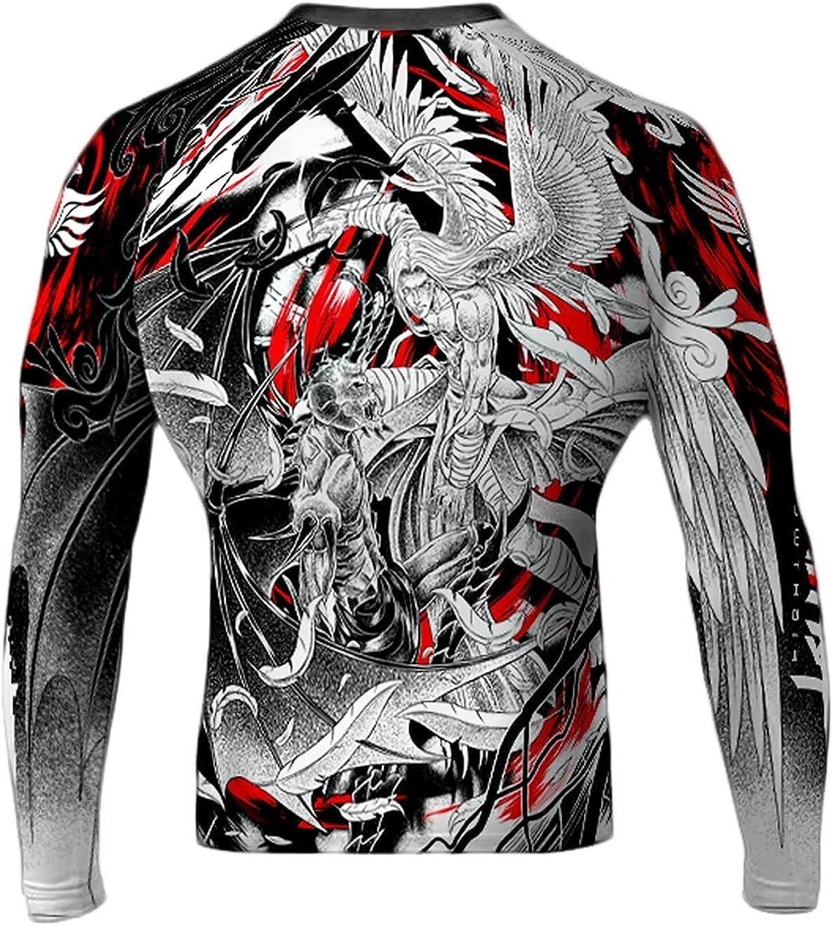 Raven Fightwear 100% quality warranty store Men's Good and Evil MMA Guard White Rash BJJ