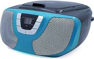 Sylvania Portable CD Player Boom Box with AM/FM Radio (Teal)