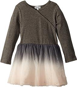 Splendid Littles - Long Sleeve Sweater Dip-Dyed Tulle Dress (Toddler)
