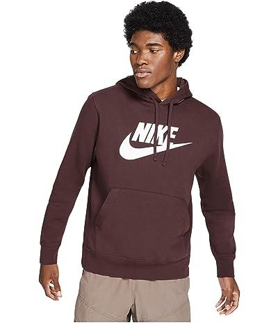 Nike NSW Club Hoodie Pullover Graphics (Mahogany/Mahogany) Men
