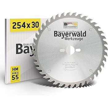 Bayerwald - HM Tischkreissägeblätter - Ø 254 mm x 2,8 mm x 30 mm   Wechselzahn   Kombinebenlöcher für Bosch GTS 10 & PTS 10 (40 Zähne)