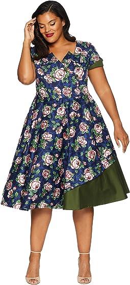 Plus Size 1950s Style Slauson Swing Dress