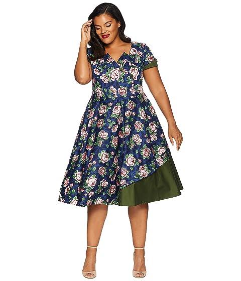 Unique Vintage Plus Size 1950s Style Slauson Swing Dress At Zappos