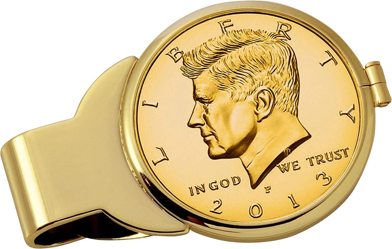 Gold-Layered JFK Half Dollar Goldtone Clip Purchase Money New Shipping Free
