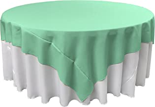 LA Linen Polyester Poplin Square Tablecloth, 72 by 72-Inch, Mint
