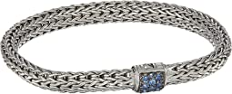 Classic Chain 6.5mm Bracelet with Blue Sapphire