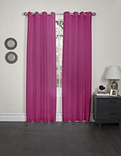 Kashi Home Holly Collection Window Treatment / Curtain / Faux Silk with Grommet Top 57