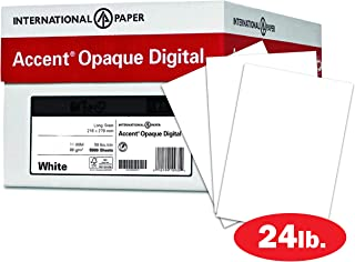 Accent Opaque White Paper, 24lb / 60lb Paper Text, 89gsm, 13x19, 97 Bright, 4 Reams / 2,000 Sheets - Super Smooth, Text Heavy Paper (189033C)