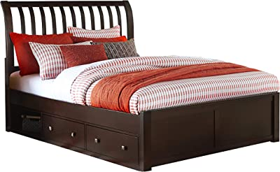 Hillsdale Furniture Hillsdale Kids and Teen 32034NS Pulse Rake Storage, Chocolate, King Sleigh Bed