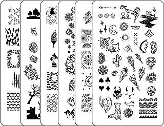 Nail Stamping Plate Stamper Plates - Ejiubas Double Side Nail Art Stamping Plates Set 3Pcs Stamp Templates Nail Art Design Laublm2
