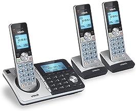 تلفن بی سیم VTech CS5159-3 3 DECT 6.0 با سیستم پاسخگویی و شناسه تماس گیرنده ، نقره ای / سیاه