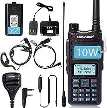 TIDRADIO TD-H6 Upgraded UV-5R 10 Watt Ham Radio Handheld Dual Band Two Way Radio with Driver Free Programming Cable