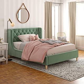Little Seeds Monarch Hill Ambrosia Teal Full Size Upholstered Bed,