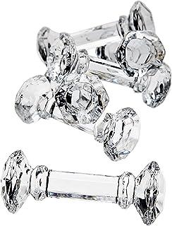Godinger Crystal Dumbbell Knife Rest - Set of 6