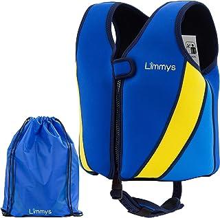 Limmys Premium Neoprene Swim Vest for Children, Ideal Buoyancy Swimming Aid for Boys and Girls, BONUS Drawstring Bag Included