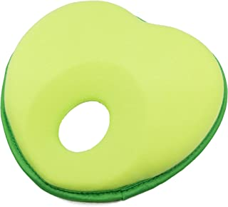 Hillside Newborn Baby Pillow | Head Shaping Pillow for Preventing Flat Head Syndrome - Plagiocephaly in Infants (Green)