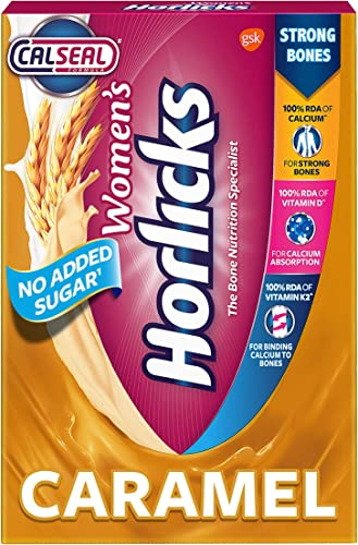 Women s Horlicks Health and Nutrition drink 400 g Refill pack Caramel flavor