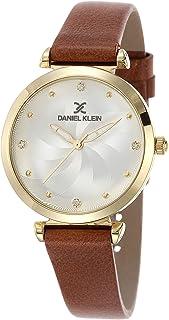 DANIEL KLEIN Premium Alloy Case Genuine Leather Band Ladies Wrist Watch - DK.1.12468-2