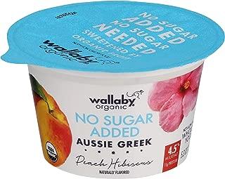 Wallaby, Yogurt Aussie Greek Hibiscus Peach Organic, 5.3 Ounce