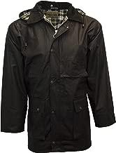 Walker & Hawkes - Mens Unpadded Wax Jacket Countrywear Hunting Waxed Coat - Black