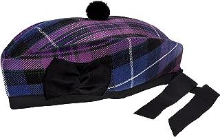 PRIDE OF SCOTLAND TARTAN 100% WOOL GLENGARRY HAT SCOTTISH HIGHLAND WEAR