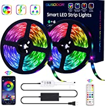 GUSODOR LED Strip Lights RGB Strips 32.8ft Tape Light 300 LEDs SMD5050 Waterproof Music..